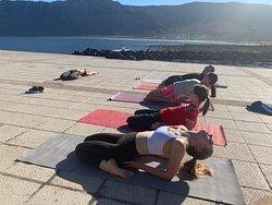 Oceanfront yoga