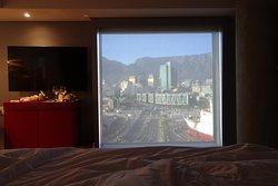 Vista dal letto della camera 648