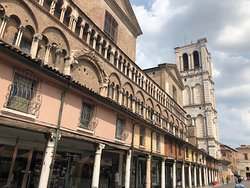 The cathedral might be closed but go around the corner to see the Loggia Mercanti, a row of medieval shops and porticoes