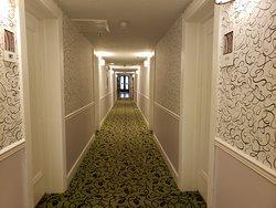 Pasillos de las habitaciones