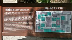 Map at entrance to Dafo Temple.