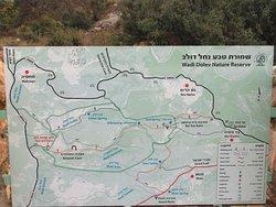 map wadi dolev nature reserve