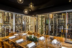 The Tasting Room at Seven seats up to 10 guests comfortably for an incredible dining experience.