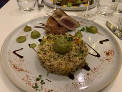 Steak de thon rouge   et Quinoa