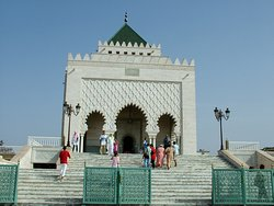 THE MOUSOLE IN RABAT, THE CAPITAL OF MOROCCO