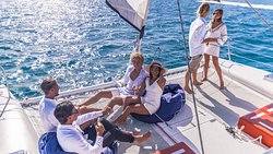 lazing on the foredeck