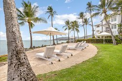 The hotels new beach relaxation area, sun loungers and ocean views. Available for hotel guests only