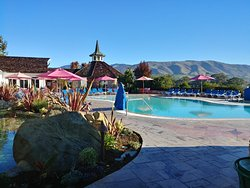 Roguetrippers loved the beautiful views from the Pool and Spa area of the Madonna Inn