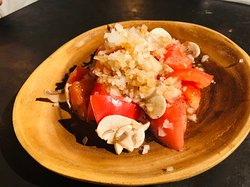 Tomato mushroom salad