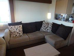 Lounge area in caravan