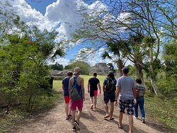 walking to the ruins