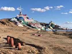 Approaching Salvation Mountain from the Road