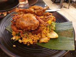 Softshell Crab with yellow curry