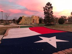 Beautiful sunsets are commonplace, with green#18, Texas Flag, in the foreground.