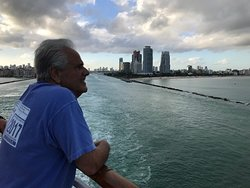 Port of Miami heading out of the channel on the cruise ship Norwegian Pearl!