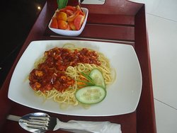 Spaghetti  order is ready for customers