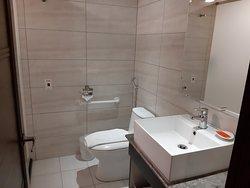 Spacious and dry bathroom