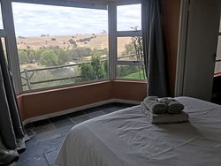 View over the river from the Dabchick bedroom