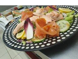 Salade duo de saumon