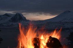 Bonfire at the viewpoint.