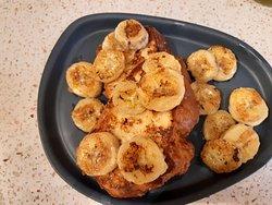 Pan a la tostada francesa con plátano, estrellas...