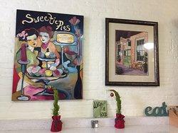 Wall decor inside Sweetie Pie's