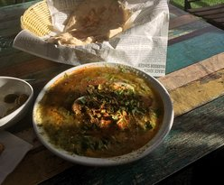 Hummus & Ful with boild egg - 32 NIS