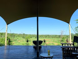 View from the deck at the main lodge