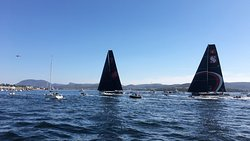 Some front runners of the Sydney-to-Hobart yacht race