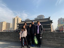 Xi'an city wall that we partially biked around.
