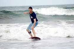 Surfing lesson for 1,5 hours . 30 minute for basic training on the beach and warm up