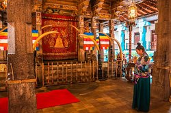 Interiors of Tooth Temple, Kandy