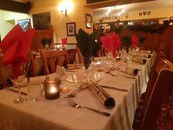 Atmospheric dining area