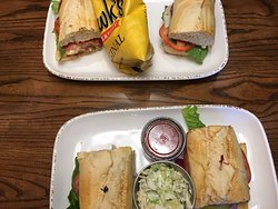 Sandwiches and sides.