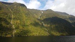 Doubtful Sound waterfalls