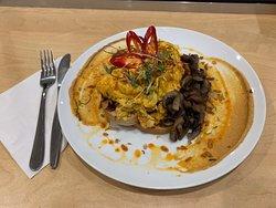 Thai yum yum eggs...Thai fusion with a twist