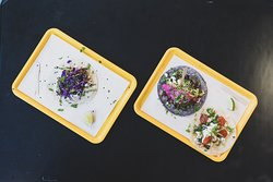 Vegan and vegetarian tacos inspired by greek recipes.