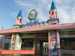Splash Out Langkawi, new water kingdom just in front our motel