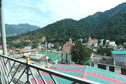 Reading Area and Sitting Arena and outside ganga view with laxman jhula view