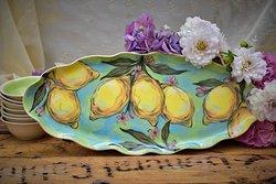 Serving platter lemons