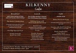 Kilkenny Café Menu