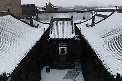 酒店雪景俯瞰图