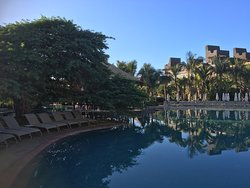 One of the many pool areas to relax - next to the Pool Bar