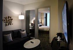 LondonHouse Chicago, Curio Collection by Hilton, 85 E Wacker Drive, Chicago - Room 1909 - Livingroom
