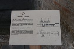 Explanatory board 1 outlining the history of the kilns and modifications made to the kilns