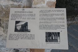 Explanatory board 9 on the uses to which the lime was put