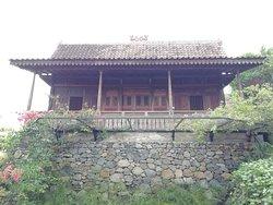 This is Villa Basuki looking from below