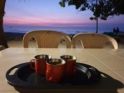 enjoy sunset from the cottages