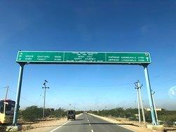 On the way to Longewala. BRO road starts.