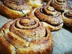 Home-made Cinnamon Puff Brioche Pastry